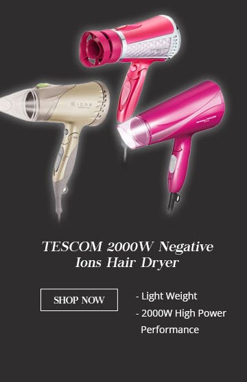 TESCOM 2000W Negative Ions Hair Dryer