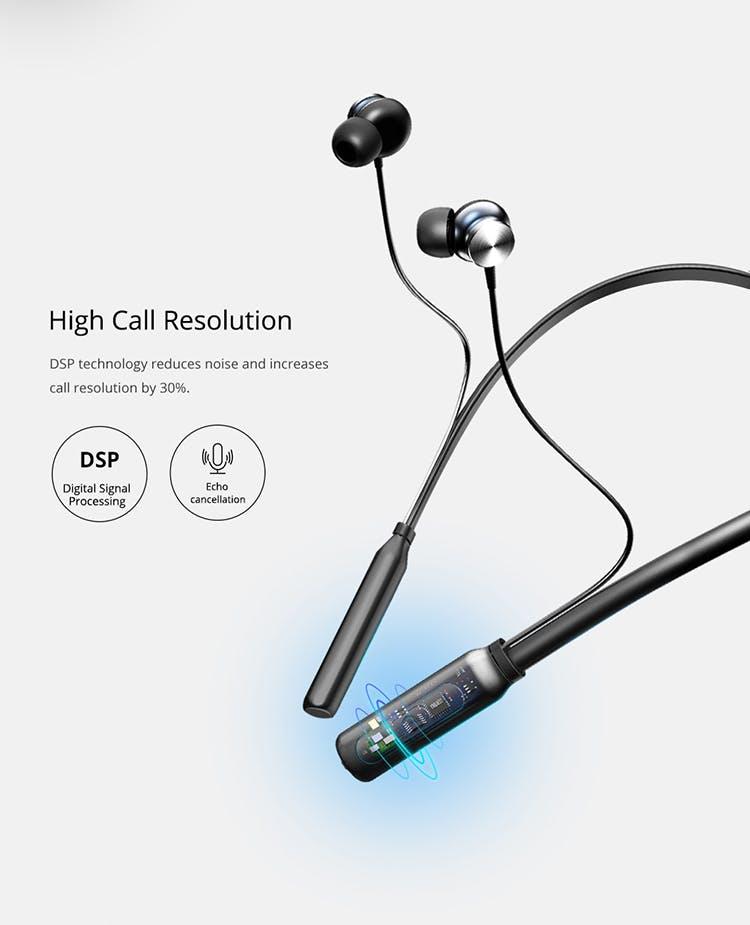 Around the neck microphone earphones - comfortable earphones with microphone