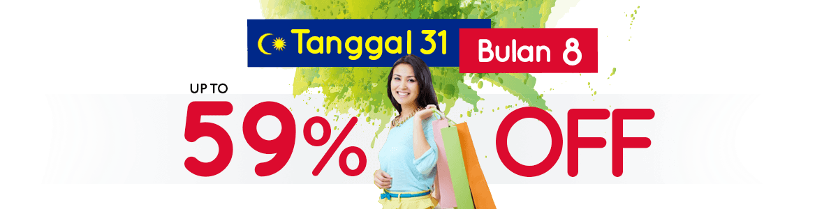 Merdeka Discount Up To 59% (View All)
